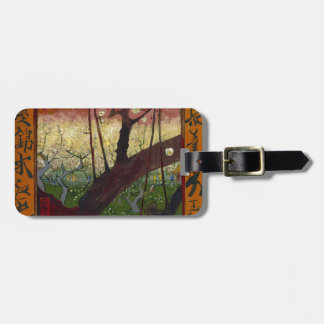 Vincent Van Gogh Flowering Plum Tree Art work Luggage Tag