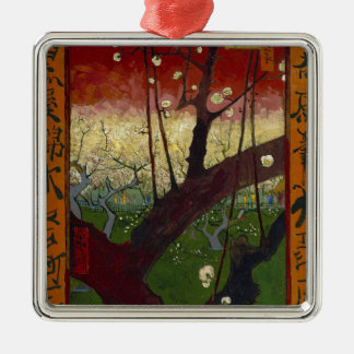 Vincent Van Gogh Flowering Plum Tree Art work Metal Ornament