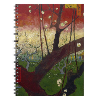 Vincent Van Gogh Flowering Plum Tree Art work Notebook