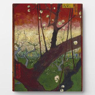 Vincent Van Gogh Flowering Plum Tree Art work Plaque