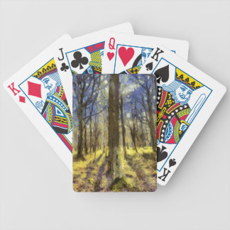 Vincent Van Gogh Forest Art Bicycle Playing Cards