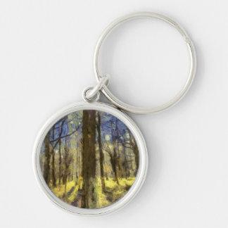 Vincent Van Gogh Forest Art Keychain