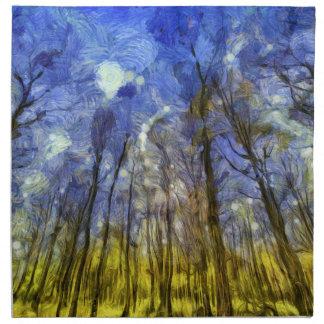 Vincent Van Gogh Forest Art Napkin