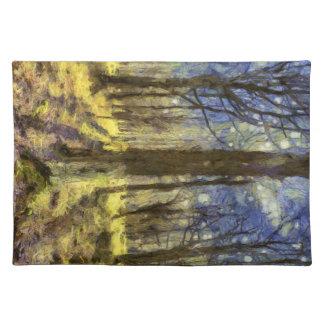 Vincent Van Gogh Forest Art Placemat