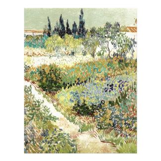 Vincent Van Gogh Garden at Arles Letterhead