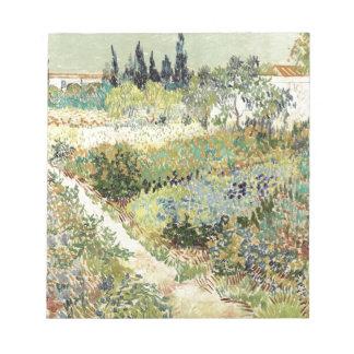 Vincent Van Gogh Garden at Arles Notepad