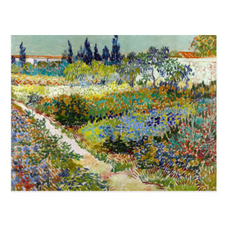 Vincent van Gogh Garden at Arles Postcard