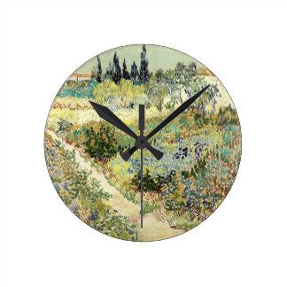 Vincent Van Gogh Garden at Arles Round Clock
