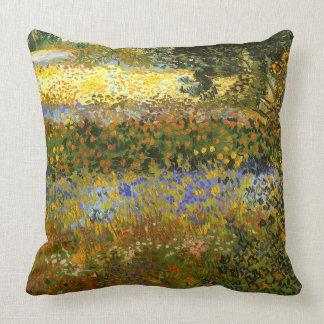 Vincent van Gogh-Garden in Bloom,Arles Throw Pillow
