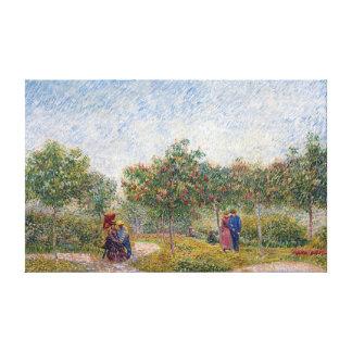 Vincent van Gogh Garden in Montmarte with Lovers Canvas Print