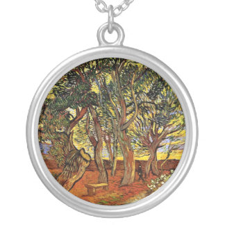 Vincent Van Gogh - Garden Of Saint Paul Hospital Silver Plated Necklace
