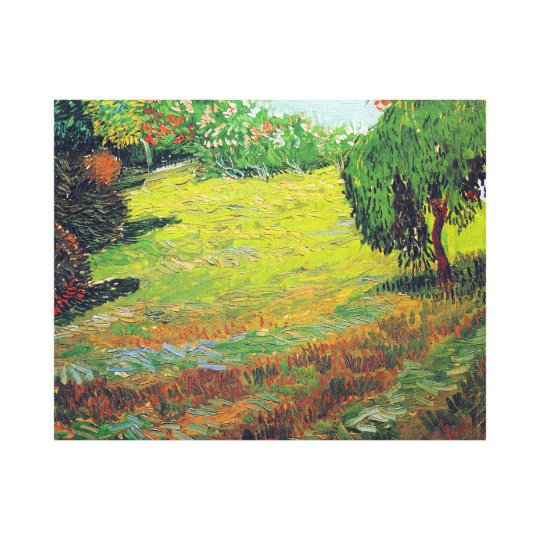 Vincent van Gogh Garden with Weeping Willow Canvas Print