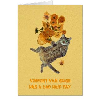 Vincent Van Gogh has a Bad Hair Day Card