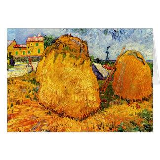 Vincent Van Gogh - Haystacks in Provence Fine Art Card