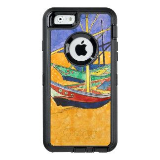 Vincent Van Gogh Impressionist Boats OtterBox Defender iPhone Case
