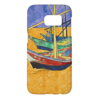 Vincent Van Gogh Impressionist Boats Samsung Galaxy S7 Case