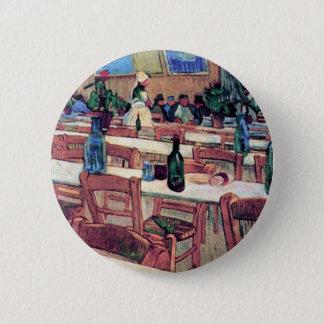 Vincent Van Gogh - Interior Of Restaurant 2 Inch Round Button