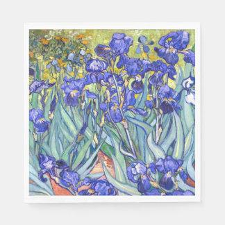 Vincent Van Gogh Irises Floral Vintage Fine Art Paper Napkins
