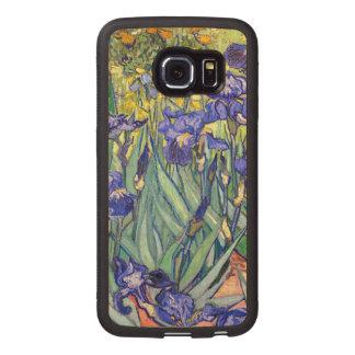 Vincent Van Gogh Irises Floral Vintage Fine Art Wood Phone Case