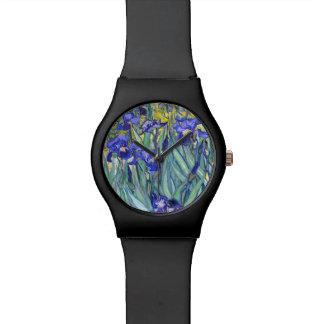 Vincent Van Gogh Irises Floral Vintage Fine Art Wrist Watches