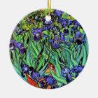 Vincent Van Gogh - Irises - Flower Lover Fine Art Ceramic Ornament