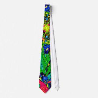 Vincent Van Gogh - Irises - Flower Lover Pop Art Tie
