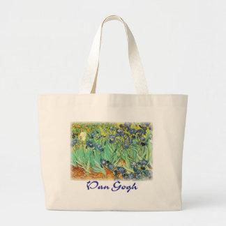 Vincent Van Gogh - Irises Jumbo Tote Bag