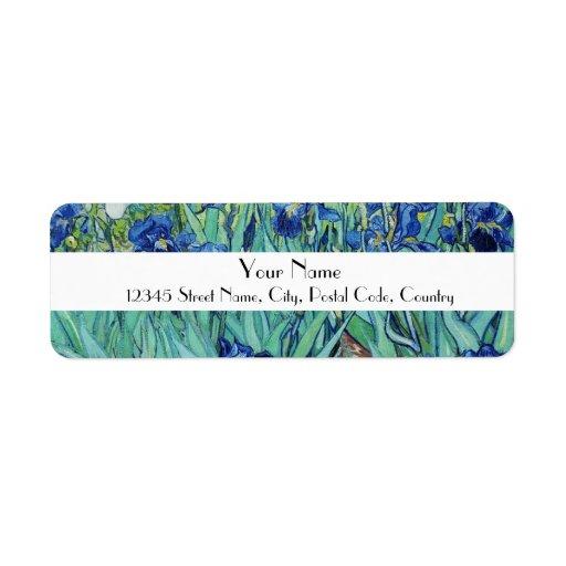 Vincent van Gogh, Irises Labels
