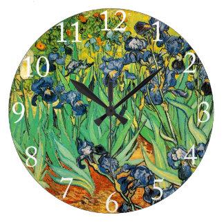 Vincent van Gogh,Irises Large Clock