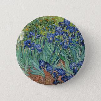 Vincent Van Gogh Irises Painting Flowers Art Work 2 Inch Round Button