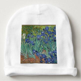 Vincent Van Gogh Irises Painting Flowers Art Work Baby Beanie