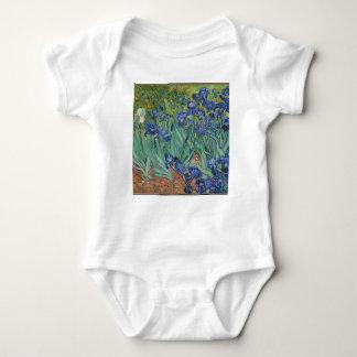 Vincent Van Gogh Irises Painting Flowers Art Work Baby Bodysuit