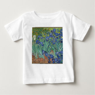 Vincent Van Gogh Irises Painting Flowers Art Work Baby T-Shirt