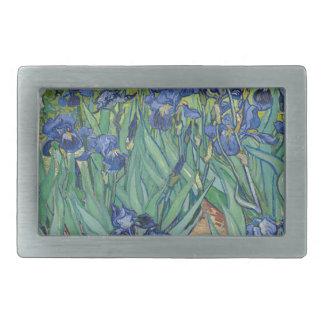 Vincent Van Gogh Irises Painting Flowers Art Work Belt Buckle
