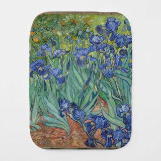 Vincent Van Gogh Irises Painting Flowers Art Work Burp Cloth