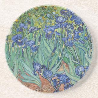 Vincent Van Gogh Irises Painting Flowers Art Work Coaster