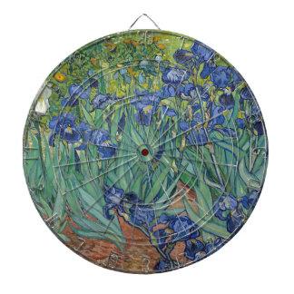 Vincent Van Gogh Irises Painting Flowers Art Work Dartboard