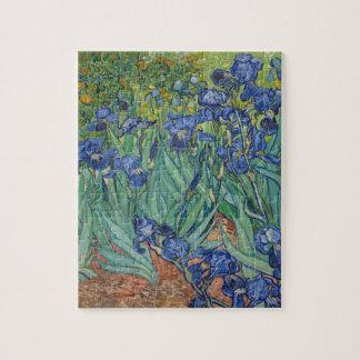 Vincent Van Gogh Irises Painting Flowers Art Work Jigsaw Puzzle