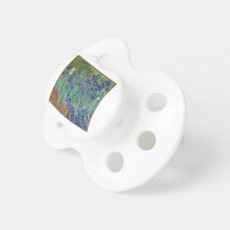 Vincent Van Gogh Irises Painting Flowers Art Work Pacifier