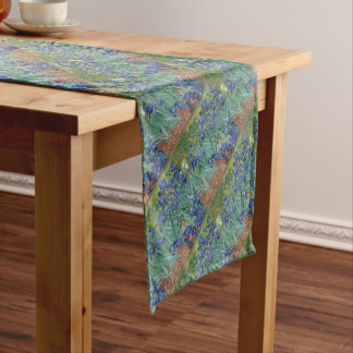 Vincent Van Gogh Irises Painting Flowers Art Work Short Table Runner