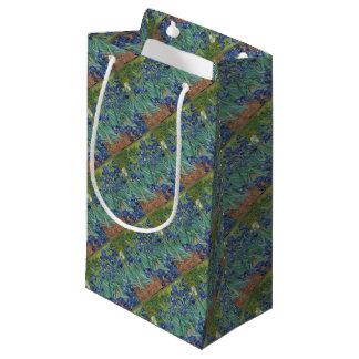 Vincent Van Gogh Irises Painting Flowers Art Work Small Gift Bag