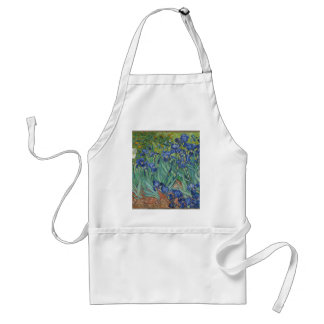 Vincent Van Gogh Irises Painting Flowers Art Work Standard Apron