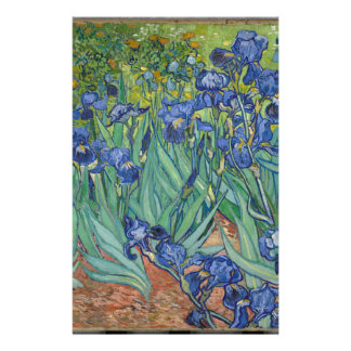 Vincent Van Gogh Irises Painting Flowers Art Work Stationery