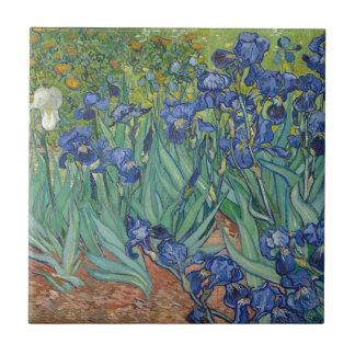 Vincent Van Gogh Irises Painting Flowers Art Work Tile