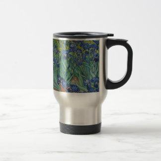 Vincent Van Gogh Irises Painting Flowers Art Work Travel Mug