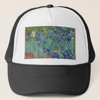Vincent Van Gogh Irises Painting Flowers Art Work Trucker Hat
