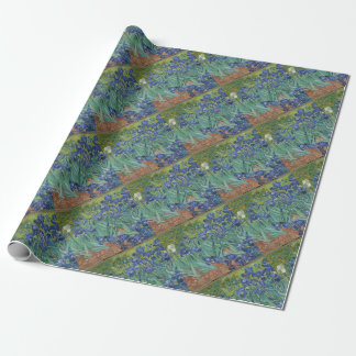 Vincent Van Gogh Irises Painting Flowers Art Work Wrapping Paper