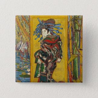 Vincent Van Gogh - La Courtisane. Fun Retro Badge. 2 Inch Square Button