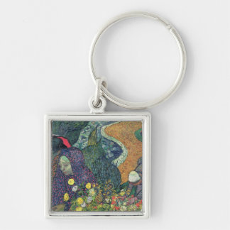 Vincent van Gogh | Ladies of Arles , 1888 Silver-Colored Square Keychain