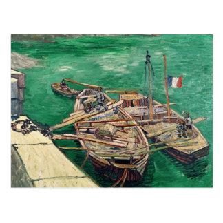 Vincent van Gogh   Landing Stage with Boats, 1888 Postcard